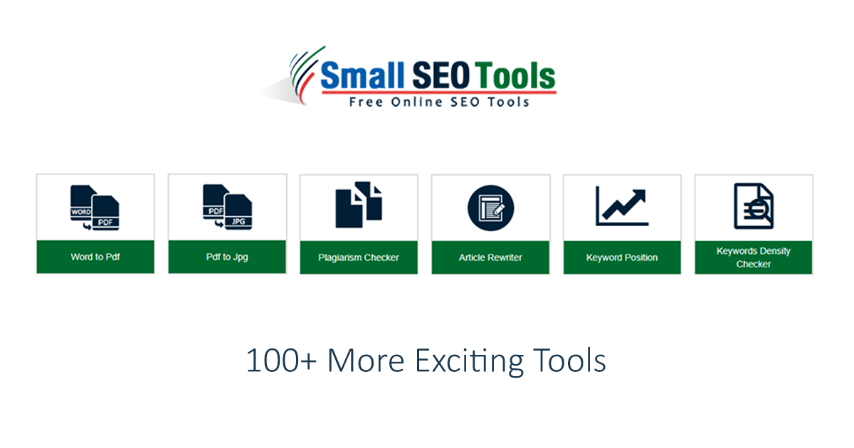 Small SEO tool là công cụ kiểm tra trùng lặp nội dung với nhiều kiểu dữ liệu khác nhau.