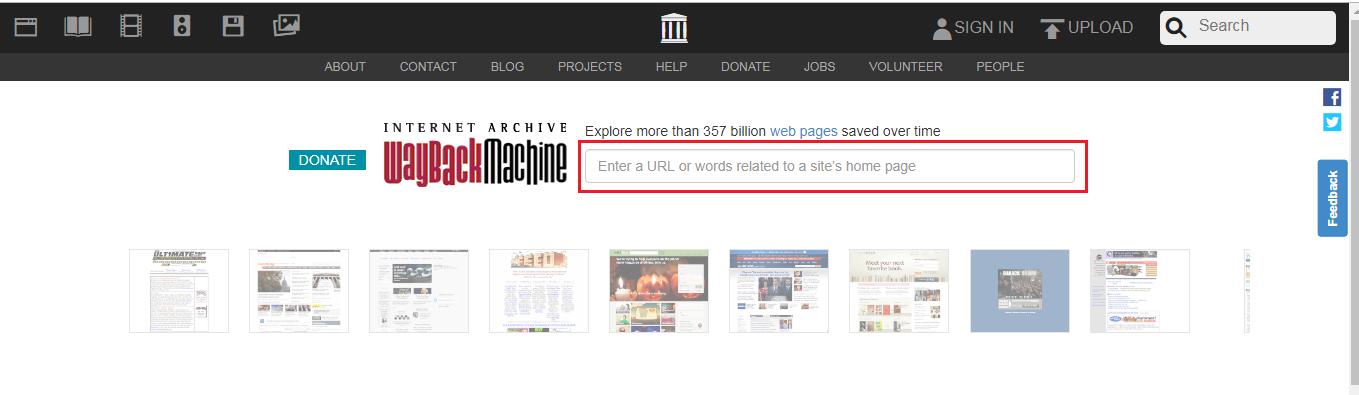 Nhập địa chỉ trang web bạn vào vùng khoanh đỏ