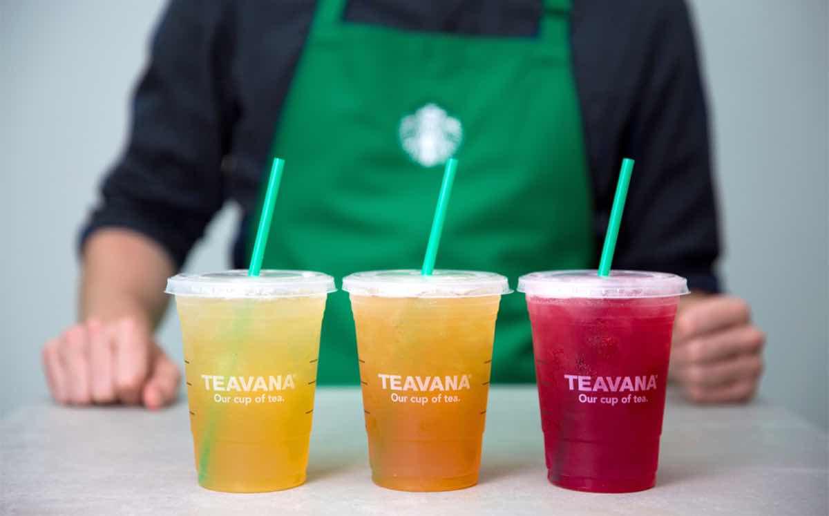 Teavana iced tea là dòng sản phẩm trà hoa quả dành cho những khách hàng không uống được cafe