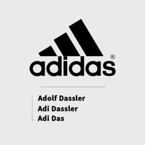 Tên Adidas theo tên ba người đồng sáng lập
