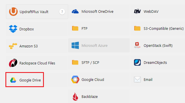 Chọn nơi lưu file backup dữ liệu web