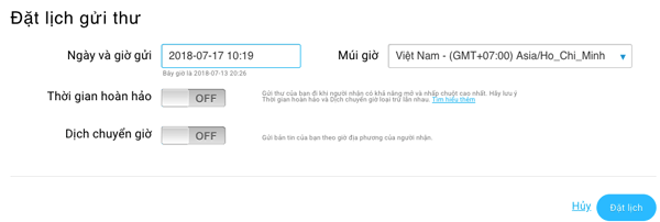 Đặt lịch gửi email