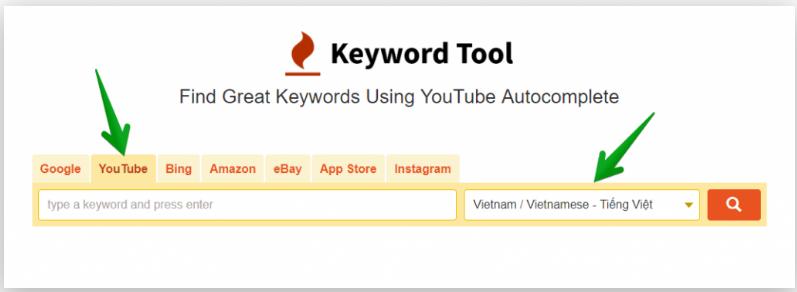 Keyword tool sử dụng nghiên cứu từ khóa youtobe