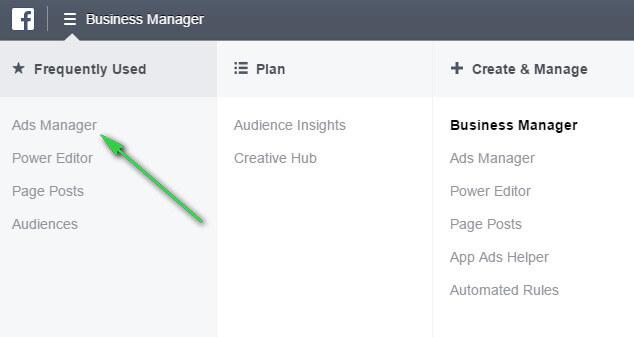 Giao diện trình quản lý quảng cáo