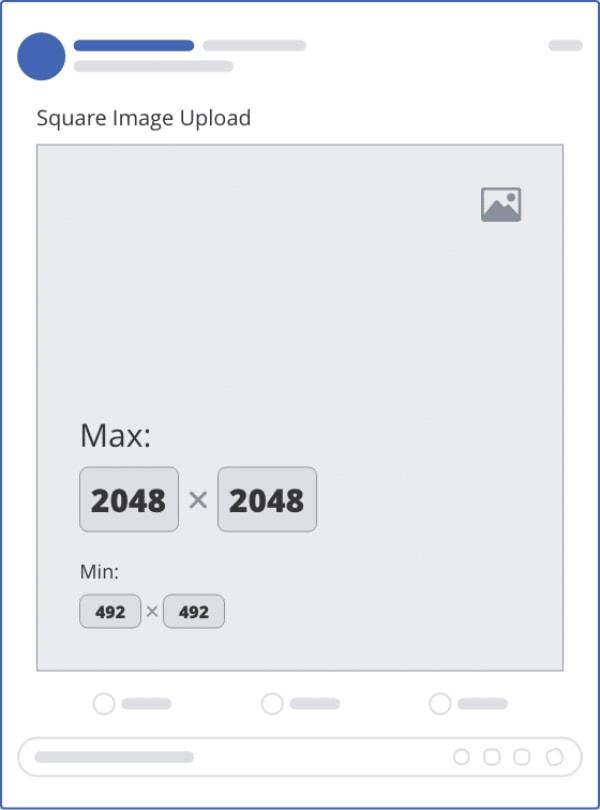 Kích thước ảnh vuông tối đa là 2048x2048px