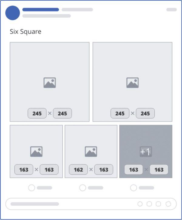 Khung hiển thị kích thước 6 ảnh vuông