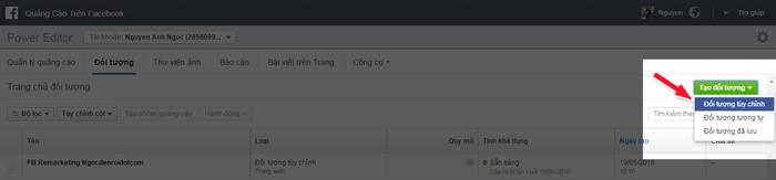 cửa sổ hiện ra bạn có thể chọn mục Lưu lượng truy cập website