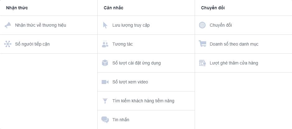 Mọt số hình thức quảng cáo facebook bạn có thể lựa chọn