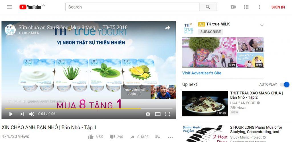 Quảng cáo video bỏ qua sau 6 giây hiển thị