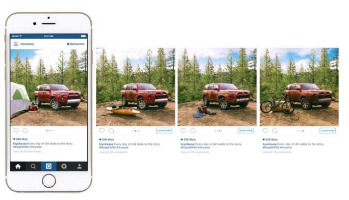 Mẫu quảng cáo instagram nhiều hơn 1 ảnh